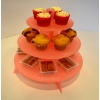 Pink Cup Cake Stand