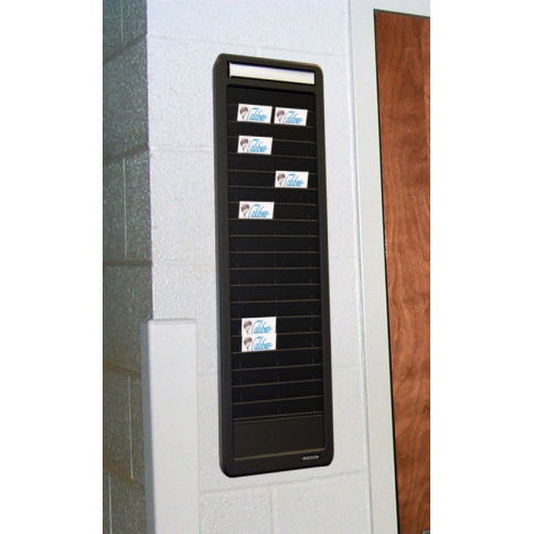 Swipe card rack