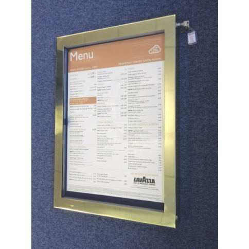 Brass Menu Case A2 - LED Illumination