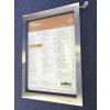 A2 LED Illuminated Menu Case - Brushed Stainless Steel Frame