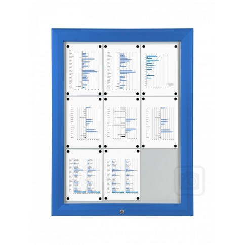 Trim T Poster Case With Blue Frame