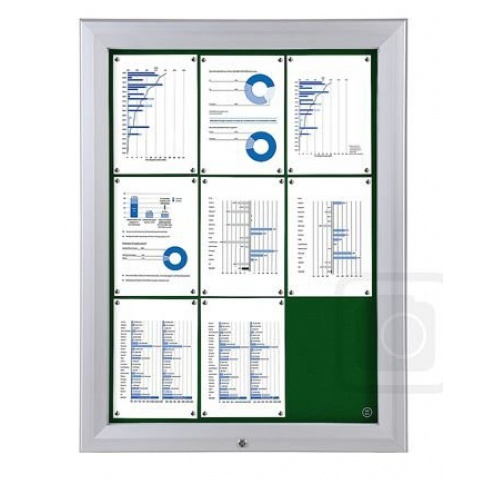 Trim T Locking Poster Case With Pinboard