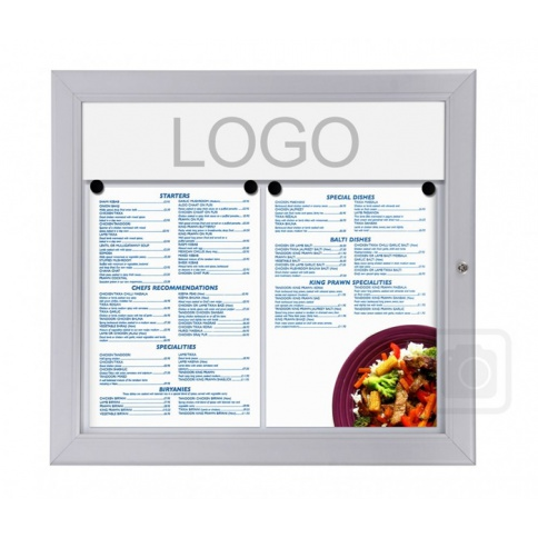 Outdoor Menu Display Case