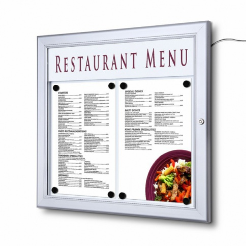 A3 LED Menu Case