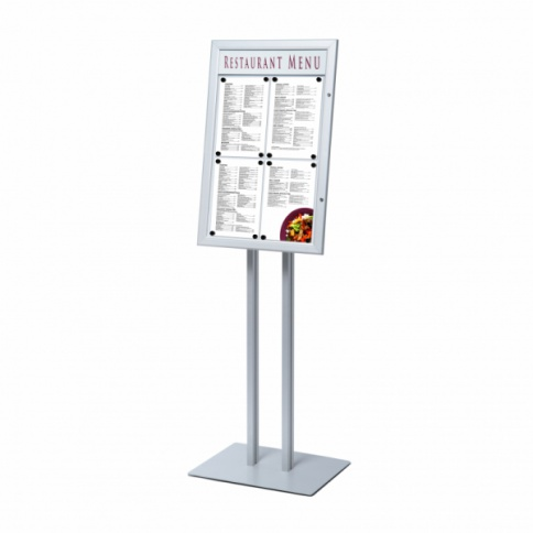 LED Illuminated Outdoor Menu Display Stand