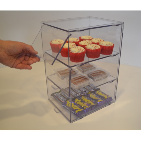 Food Safe Bakery Case - 3 Tiers