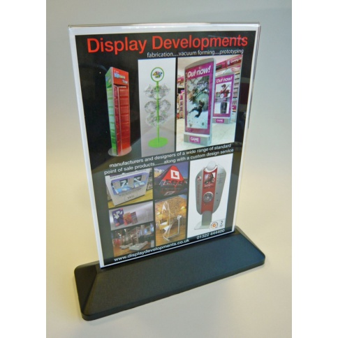 A4 Portrait Slanted Menu Holder
