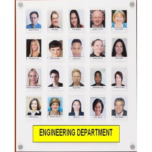 Staff Photo Board 20 capacity