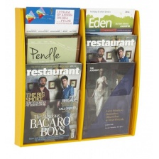 A4 Coloured Wall Mounted Brochure Racks