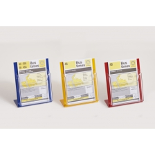 A5 Coloured Counter Top Brochure Holders