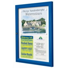 Prestige Range Of Lockable Noticeboards With Coloured Frames