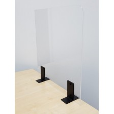 Perspex Sneeze Guards For Desks - Edge Mounted  With Clamps