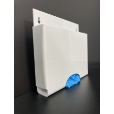 Disposable Glove Dispenser In White Acrylic