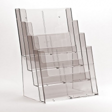 4 x A4 Counter Standing Brochure Holder