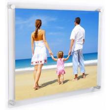 Poster Holders In Clear Acrylic With Wall Fixings