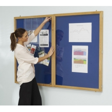 Hardwood Locking Noticeboards