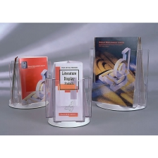 3 x 1/3 A4 Pocket Revolving Counter Top Leaflet Holder