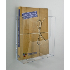 A4 Wall Mounted Leaflet Holder - Portrait Extra Capacity