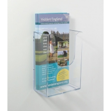 1/3 A4 Portrait Extra Capacity Wall Mounted Leaflet Holder