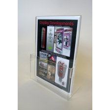 A4 Portrait Brochure Holder with Card Holder