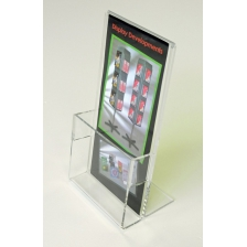 1/3 A4 Brochure Holder c/w Card Holder - Portrait