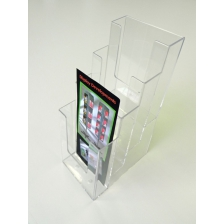 4 x 1/3 A4 Counter Standing Leaflet Holder