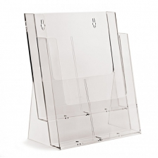 2 x A4 Counter Standing Leaflet Holder - Portrait