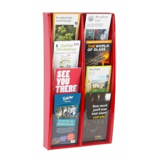 1/3 A4 (DL) Coloured Wall Mounted Brochure Racks