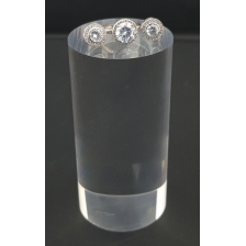 Clear Acrylic Display Cylinder 50mm diameter x 100mm high