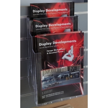 A4 Portrait 3 Tier Slatwall Brochure Holder