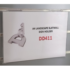 A4 Landscape Slatwall Sign Holder