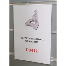 A5 Portrait Slatwall Sign Holder