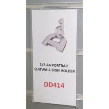 1/3 A4 Portrait Slatwall Sign Holder
