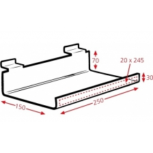 Display Tray With Lip 250x150mm