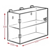 2 Compartments 500mm x 200mm x 300mm