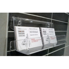 Double Pocket Business Card Holder / Dispenser