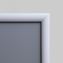 White Metal Snap Frames