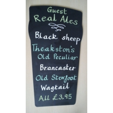 Beer Glass Shaped Chalkboards