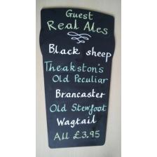 Beer Glass Shaped Chalkboards