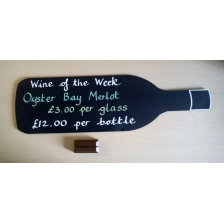 Wine Bottle Shaped Chalkboards