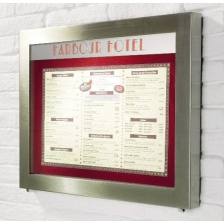 LED Illuminated Brushed Stainless Steel Menu Cases