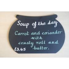 Soup Cauldron Shaped Chalkboard