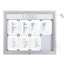 LED Illuminated Trim T Lockable External Noticeboards