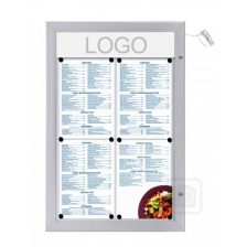 LED Illuminated Aluminium Outdoor Menu Cases