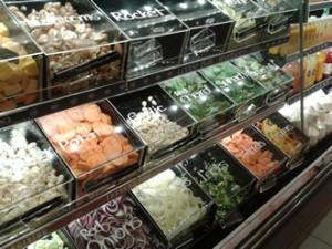 Acrylic food grade display bins