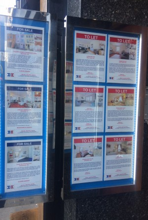 Estate agent display units