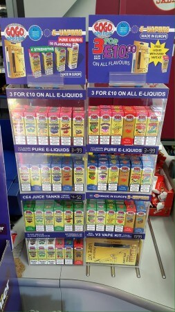 E-Vapor8 Point of Sale Stands
