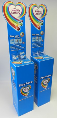 Health Lottery Play Stands