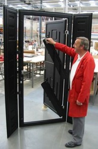 Engineer with Kone Safety Door