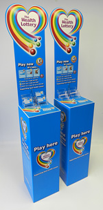 Plastic Fabrication Example - Health Lottery Stands
